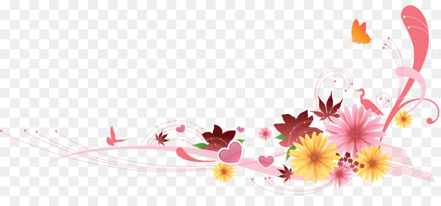floral design flower flower corner png download 1600