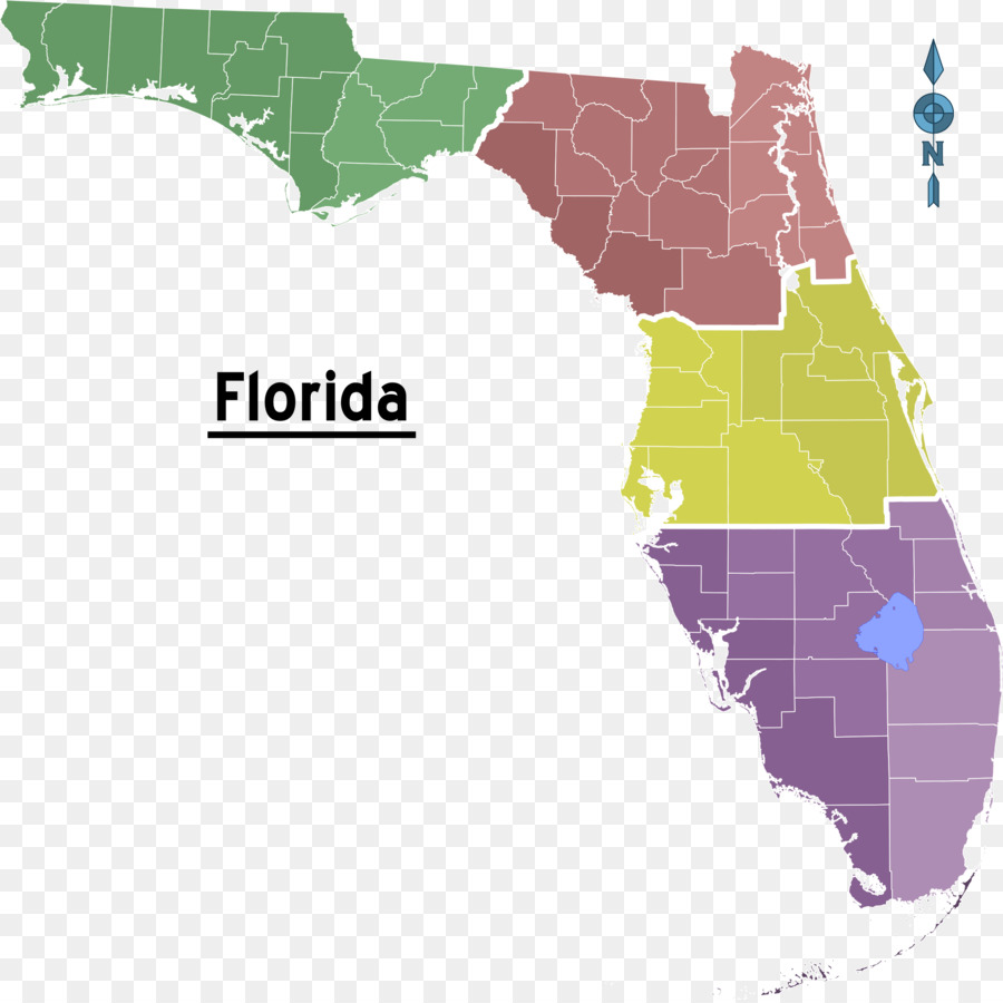 Florida Topographic map Triangle Chemical Co - map png download ...