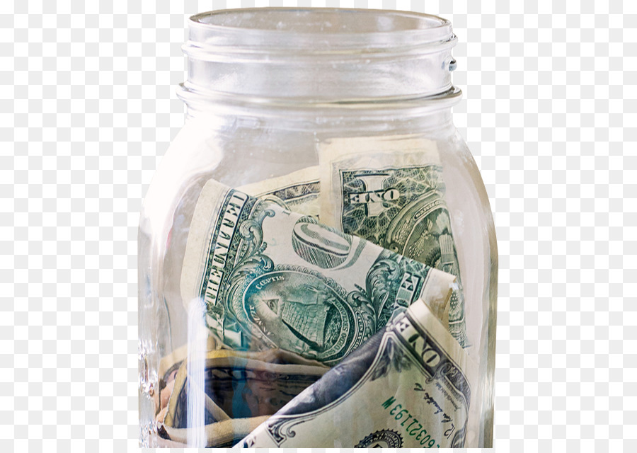 Mason jar with money