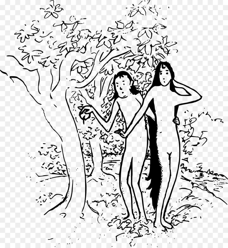 Jardín del Edén, Adán y Eva Dibujo de la Historieta - adán, eva ...