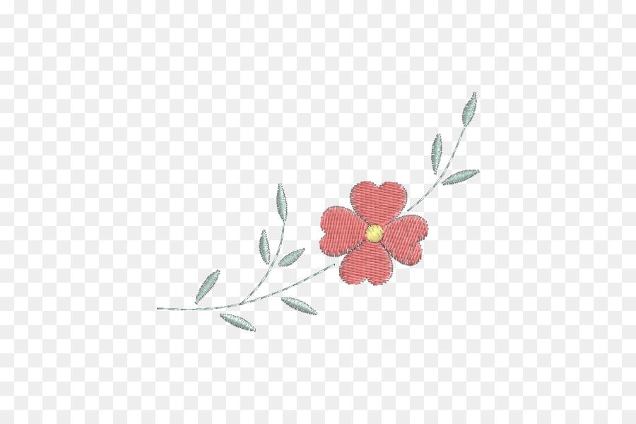 Bordado De Flores De Adorno Pétalo Patrón - flor png dibujo ...