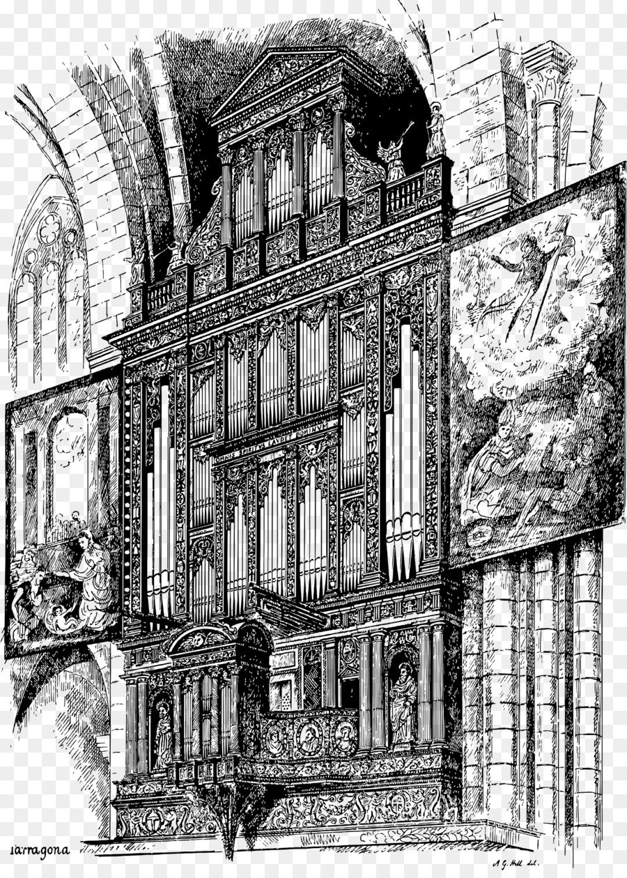 Cathedral Architecture Drawing Clip Art