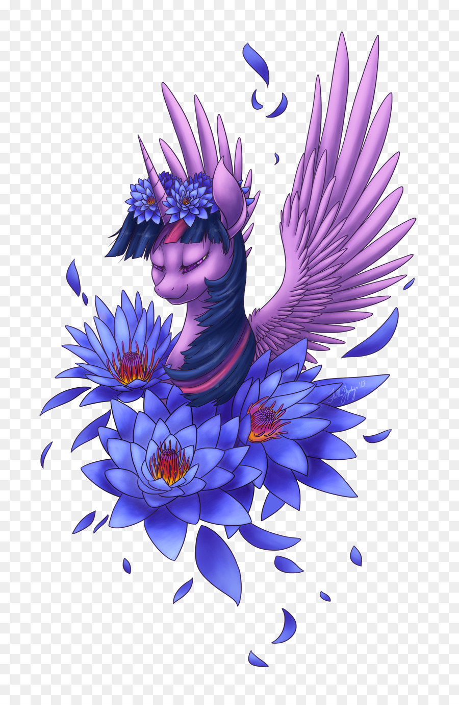 Drawing Violet Flower Lilium Purple Lotus Png Download 9001370