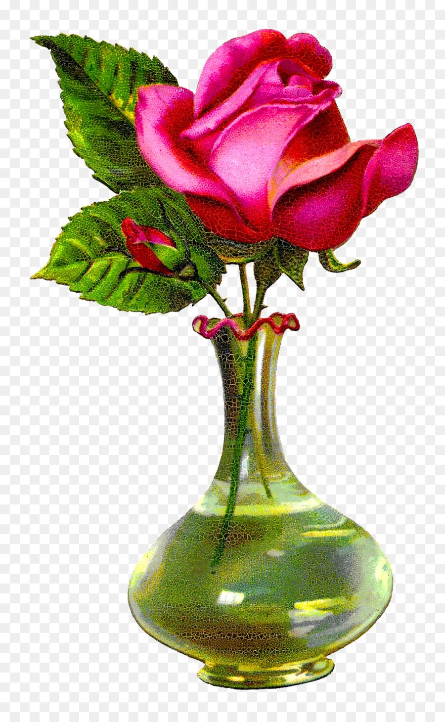 Florero de rosas de los jardines Florales de diseño en Cristal ...