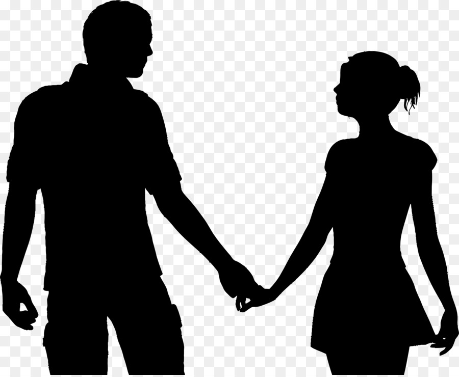 Couple Silhouette Holding Hands Png