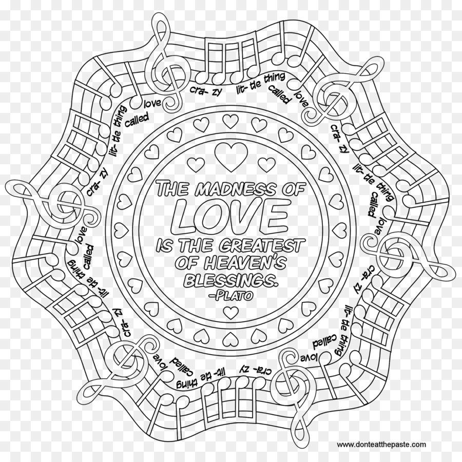 Mandala Boyama Kitabı ücretsiz Aşk Meditasyon Diğerleri Png Indir