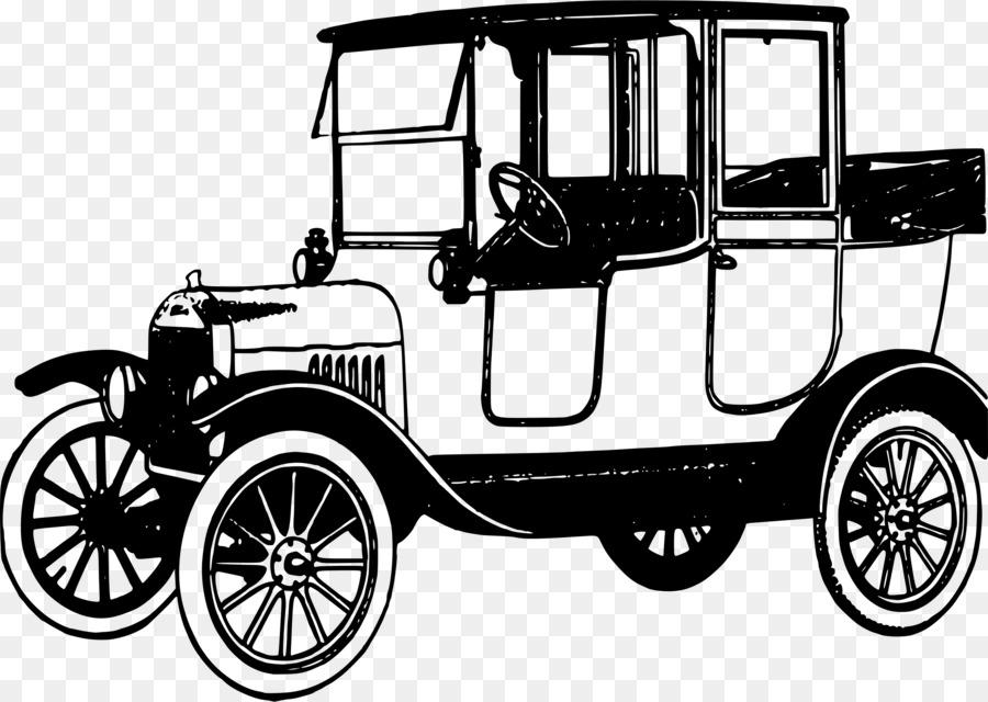 Vintage car Ford Model T Clip art - truck png download - 2400*1706 ...