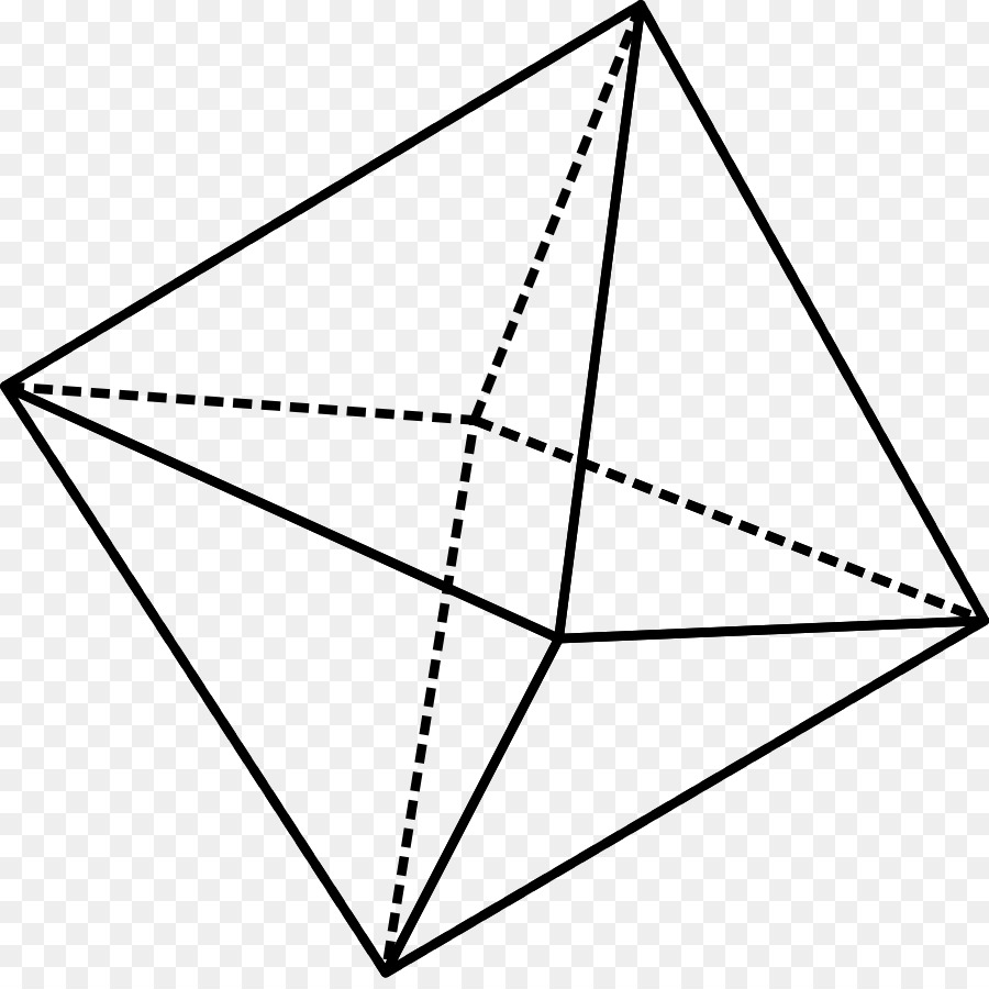 Octahedron Octahedral Molecular Geometry Clip Art