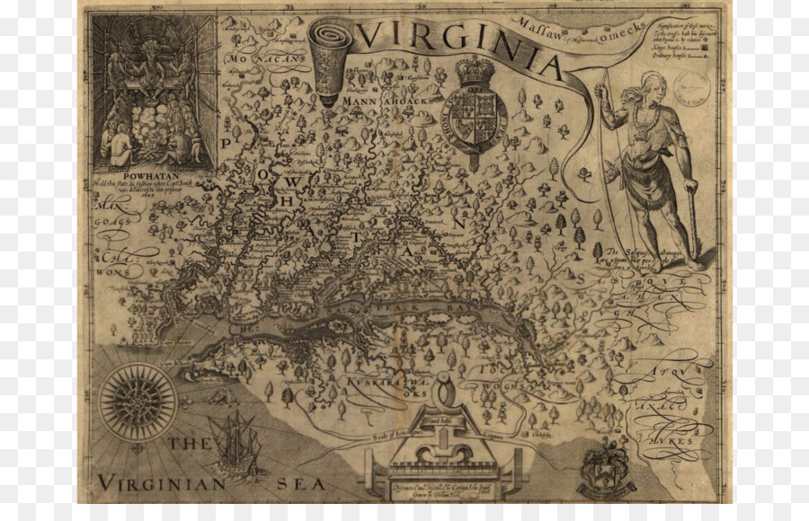 Jamestown James River A Map Of Virginia Colony Of Virginia The