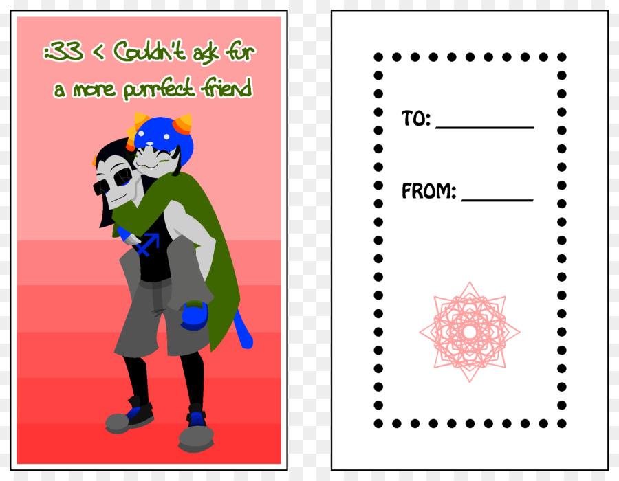 Valentinstag Art Homestuck Einladungskarten Png Herunterladen