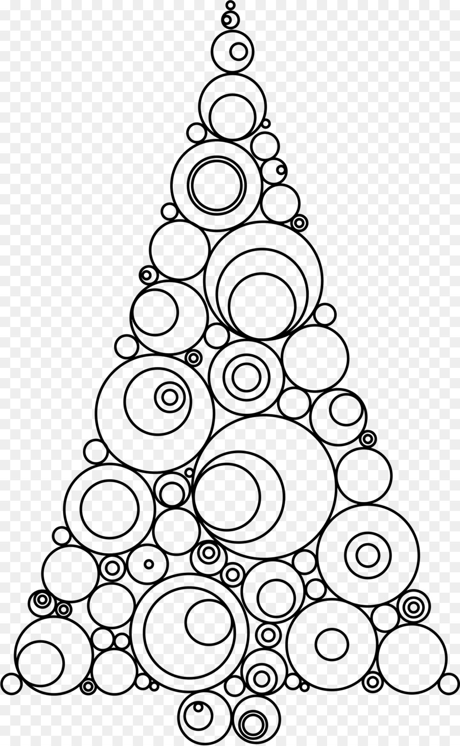 christmas tree drawing christmas ornament clip art doodle