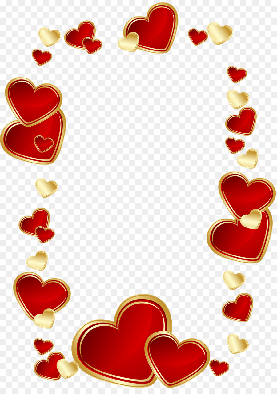 Picture Frames Heart Clip art - heart gold png download - 3298*4618 ...