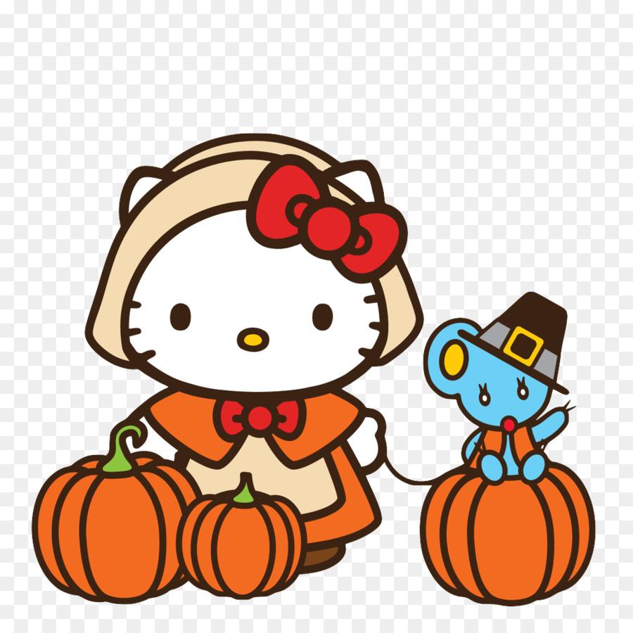 Hello Kitty Thanksgiving Katze Clip Art