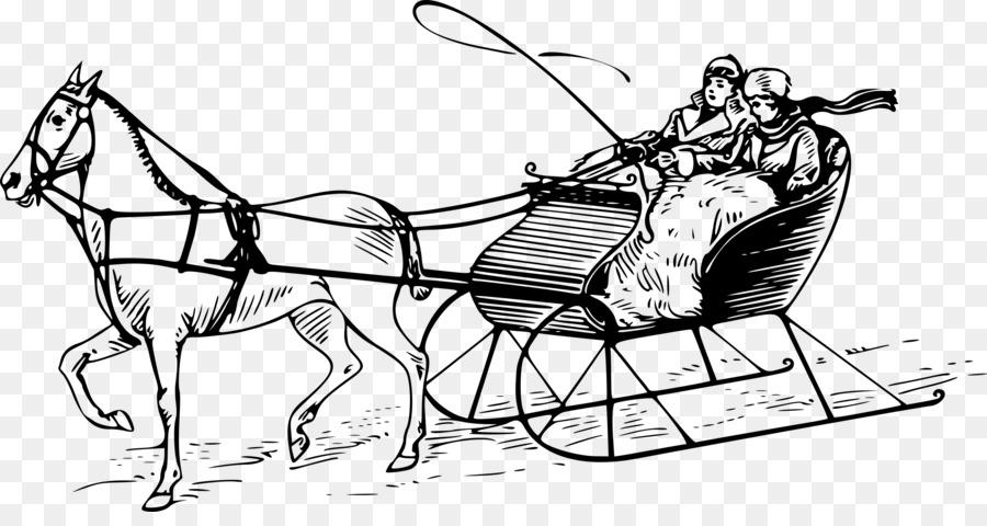 Caballo tirando de Trineo trineo de caballos Clip art - las carreras ...