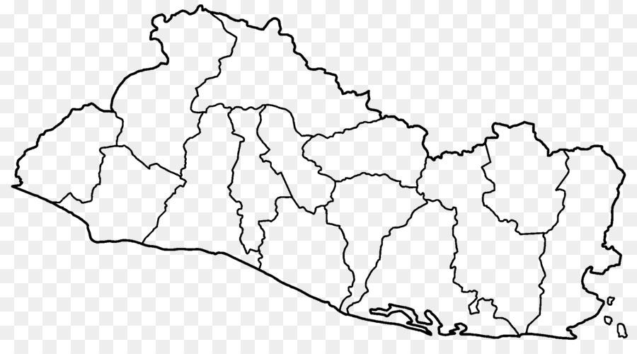 El Salvador Blank map Cuzcatlan Google Maps - colombia png download ...
