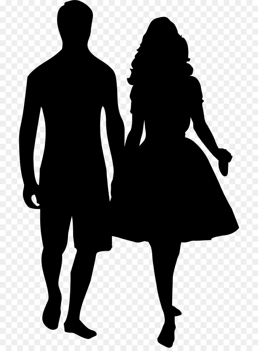 silhouette holding hands drawing clip art couple silhouette png