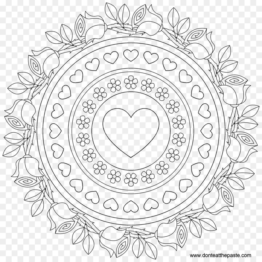 Libro para colorear de tarta de Cumpleaños Mandala Feliz ...