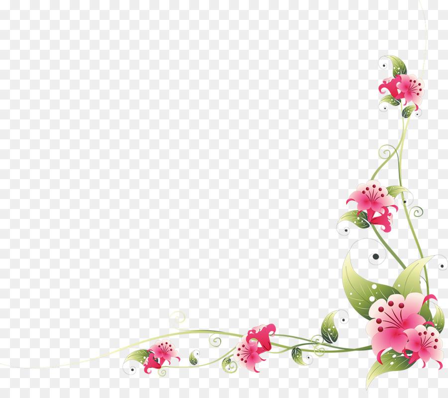 Picture Frames Flower Floral Ornament Clip art - floral frame png ...