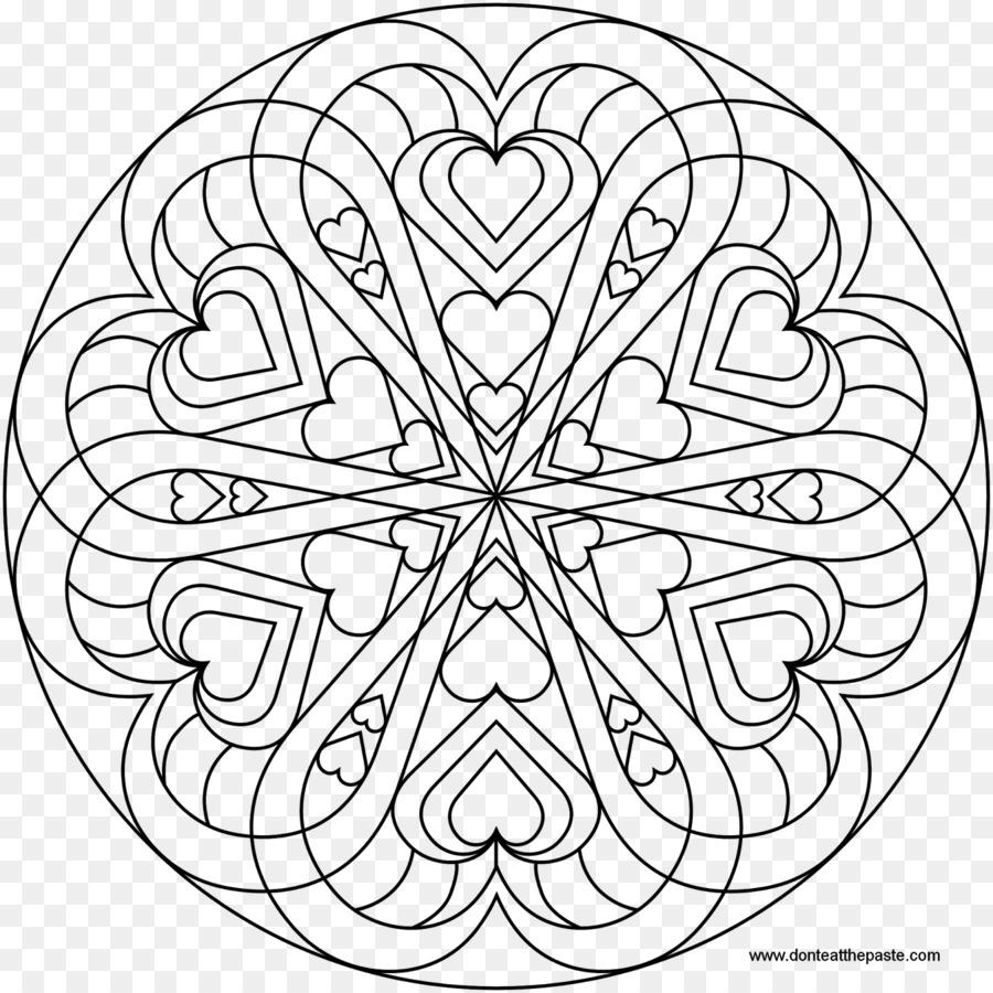 Mandala para Colorear libro el Corazón de Amor - corazón png dibujo ...