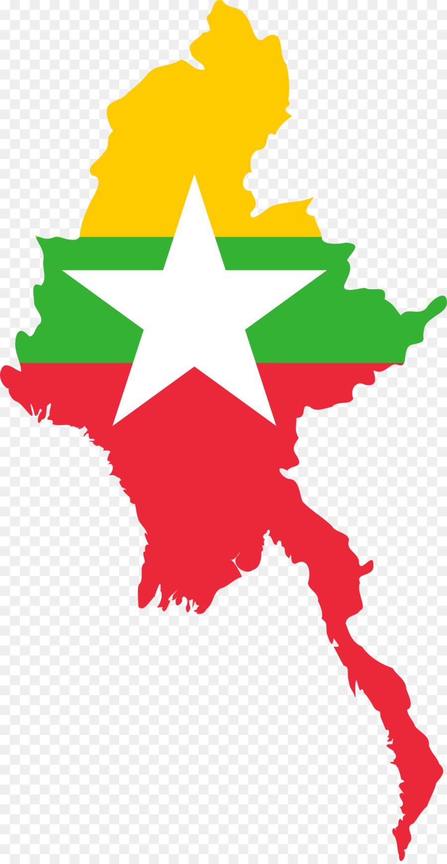 Birmania Bandera de Myanmar Mapa de la Bandera de los Estados unidos ...