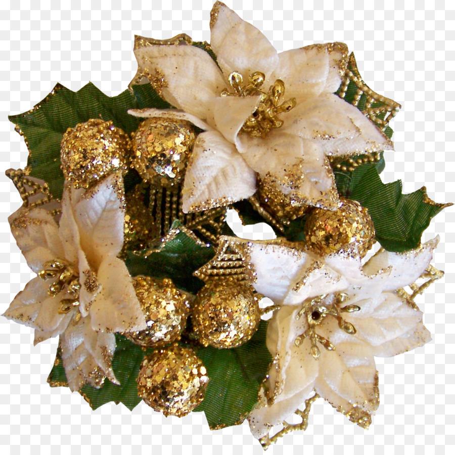 Christmas Flower Bouquet Cut Flowers Wreath Png Download 1366