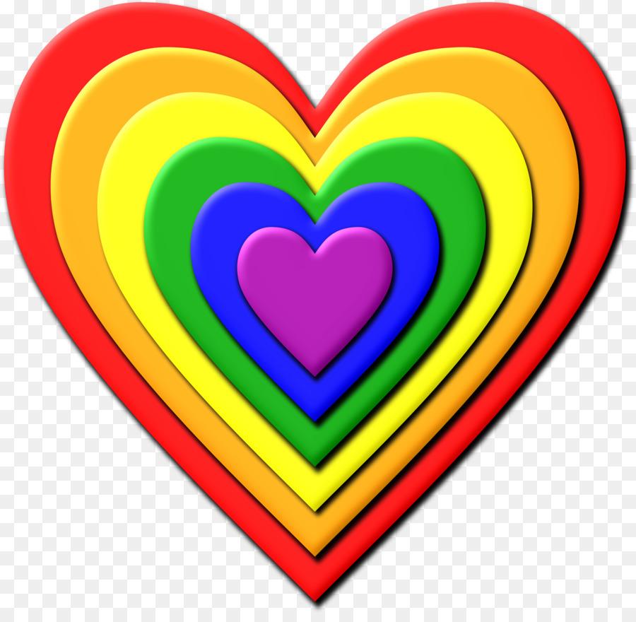 Rainbow Heart Clip art - rainbows png download - 2360*2274 ...