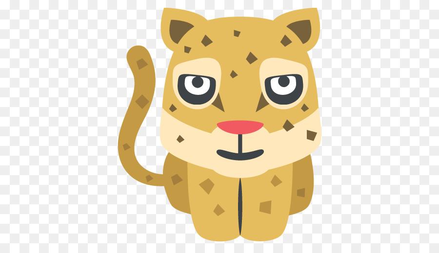 Emoji Leopard Text Messaging Sms Symbol Viber Png Download 512