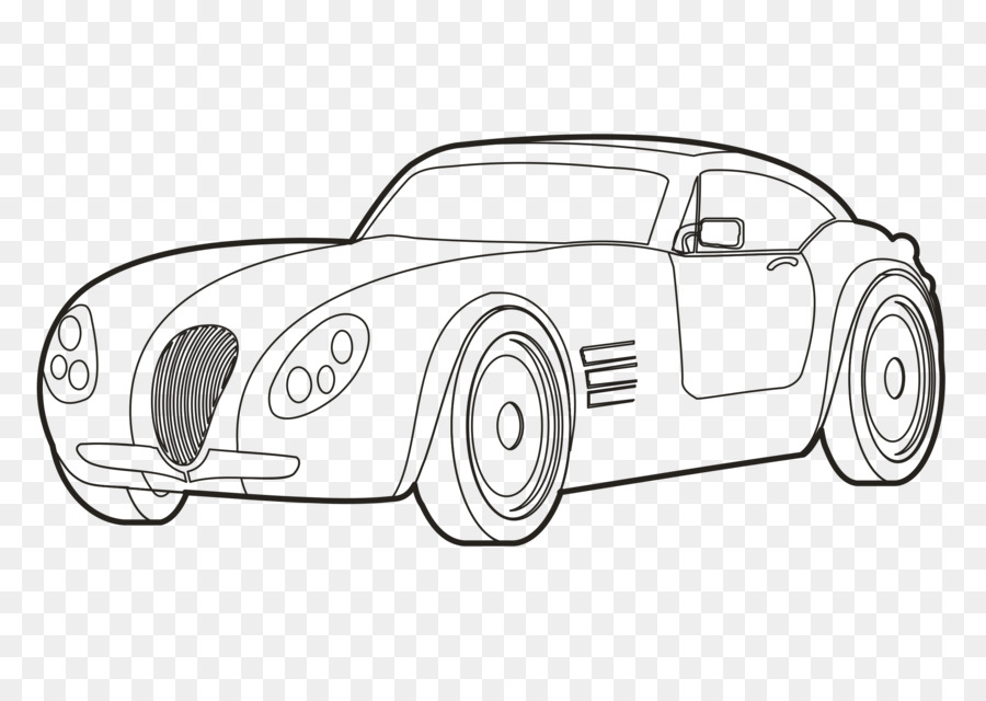Sports Car Drawing Line Art Mcqueen Png Download 2400 1697