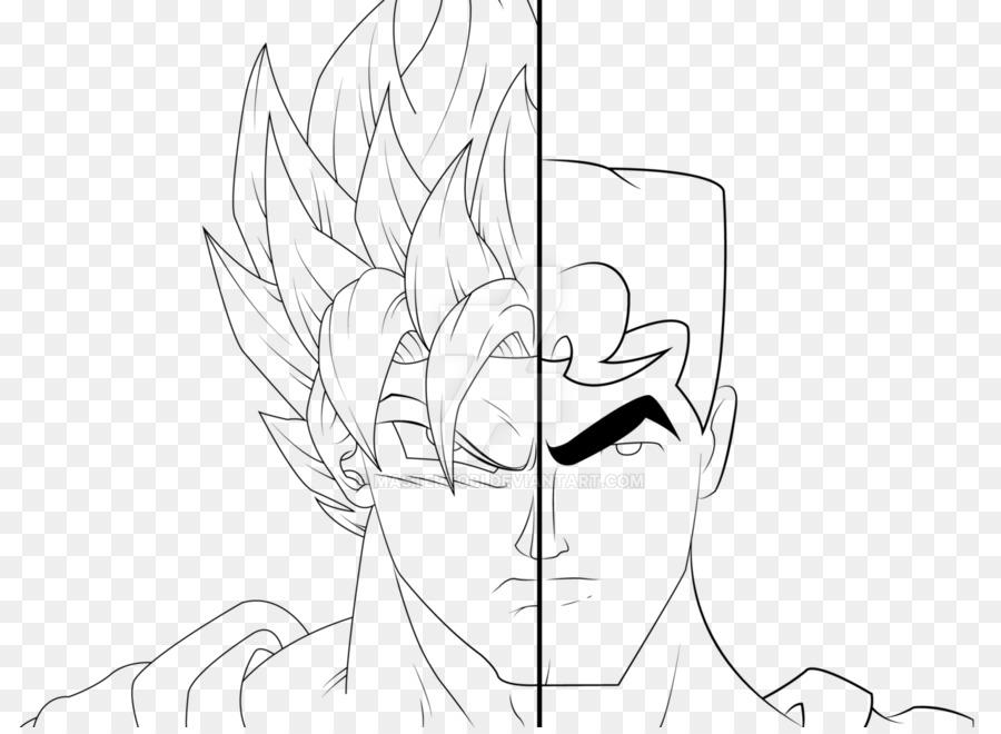 superman goku drawing batman line art line art png download 1280