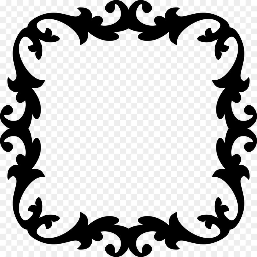 Ornament Picture Frames Clip art - Decorative Border png download ...