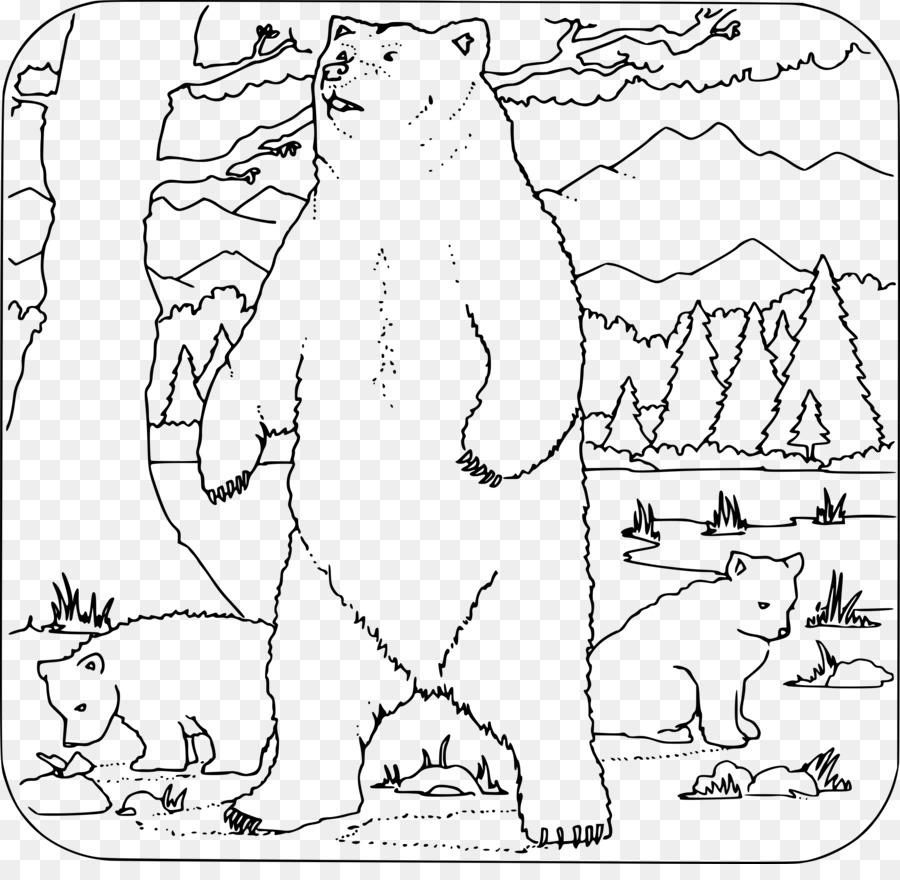 Oso Polar, el Oso Pardo de la Familia para Colorear libro - grizzly ...