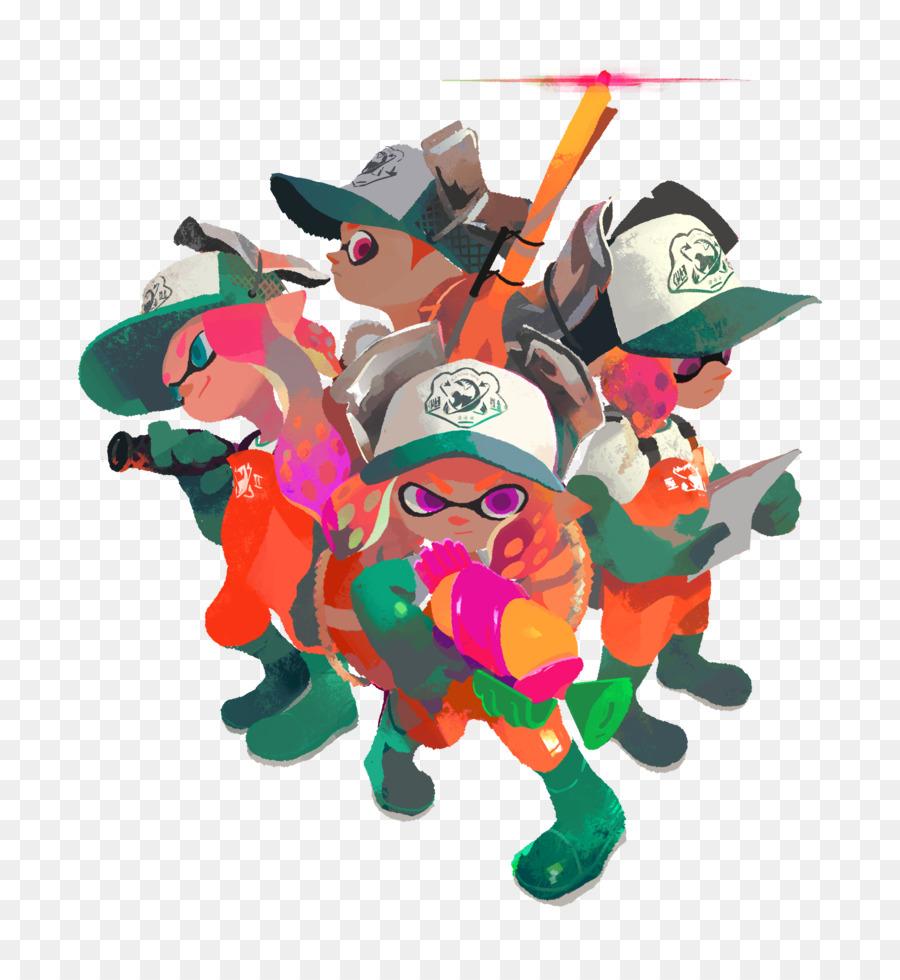 Splatoon 2 Nintendo Wii U Arms - SALMON png download - 3814*4096 ...
