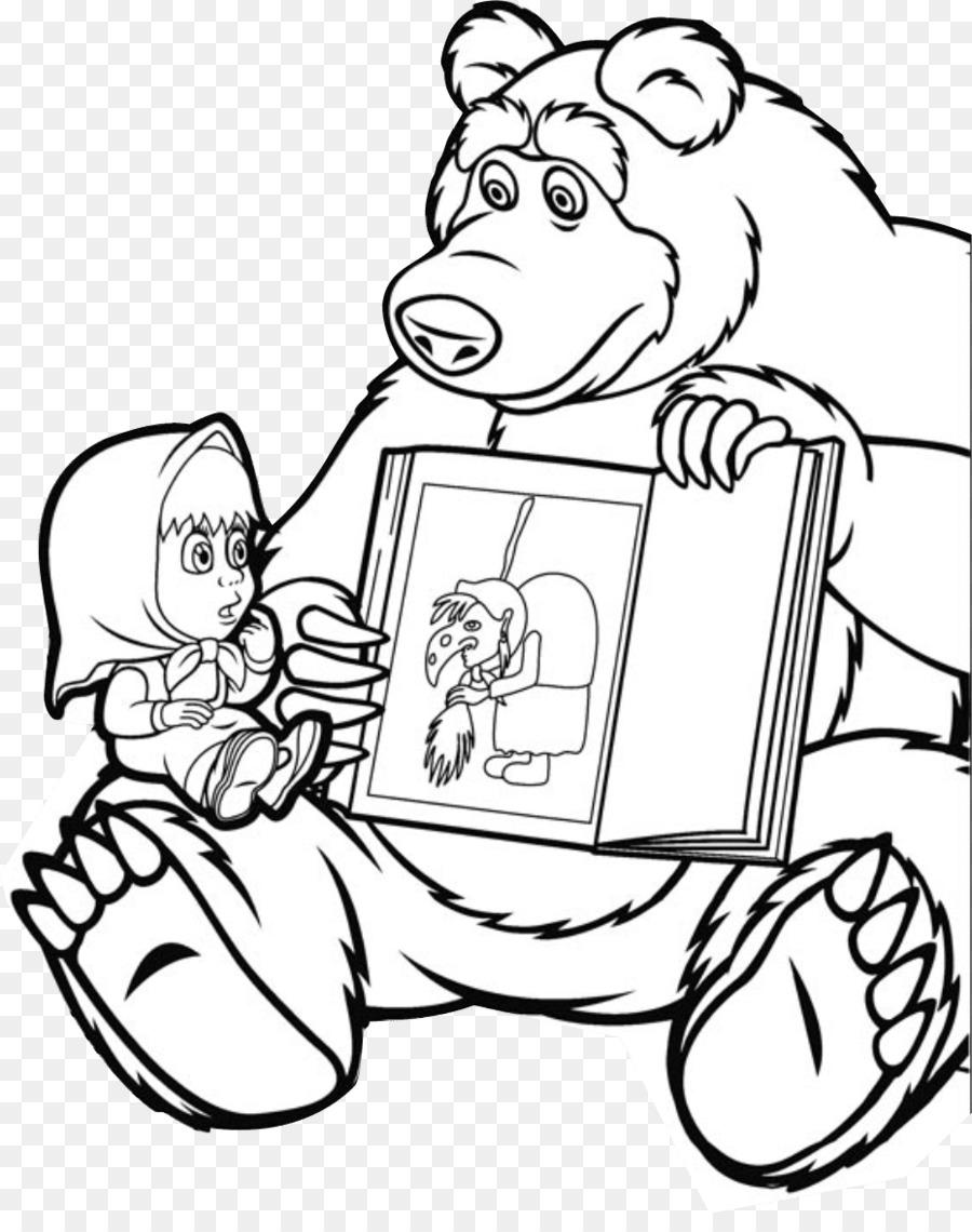 Bear Masha Drawing Coloring Book