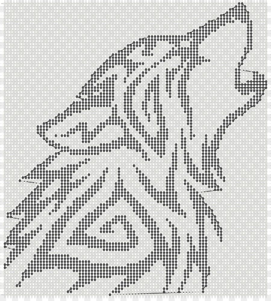 Gray wolf Bead Template T-shirt Pattern - knitting png download ...