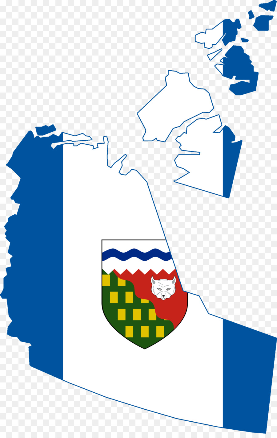 Flag Of The Northwest Territories Blank Map Canada Flag Png
