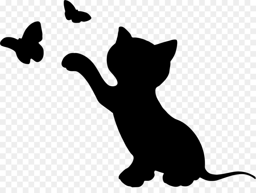 Kitten Cat Silhouette Clip Art Animal Silhouettes Png