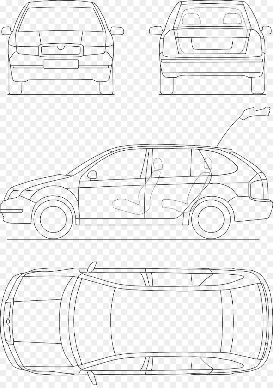 Car Blueprint Drawing - car parts png download - 907*1280 - Free ...