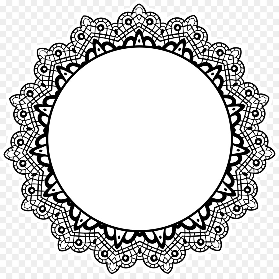 Mandala Lace - decorative frame png download - 1441*1433 - Free ...