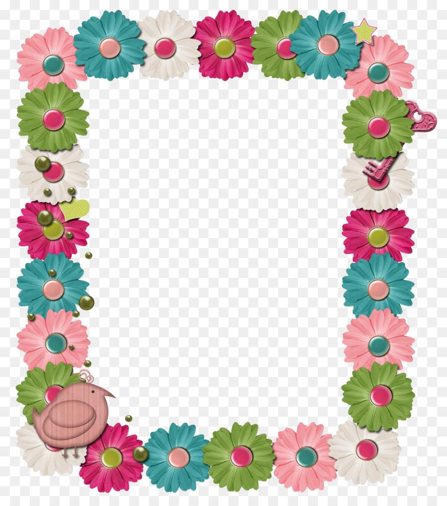 Paper Picture Frames Digital Scrapbooking Flower Frame Png