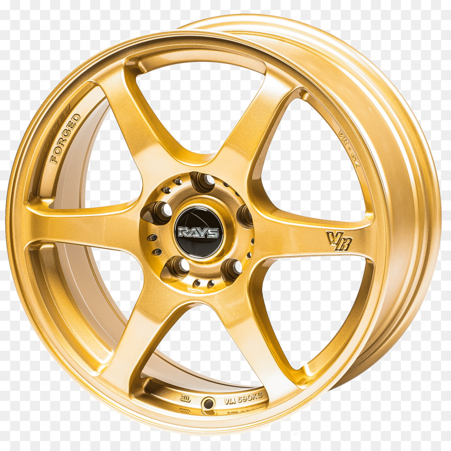 alloy wheel precious metal gold rays