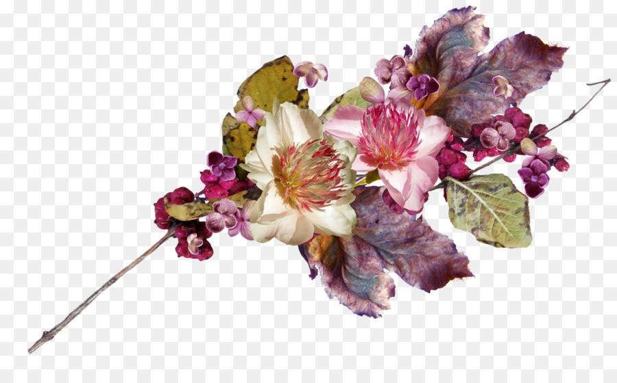 Cut flowers Floral design Flower bouquet Petal - blue flowers png ...