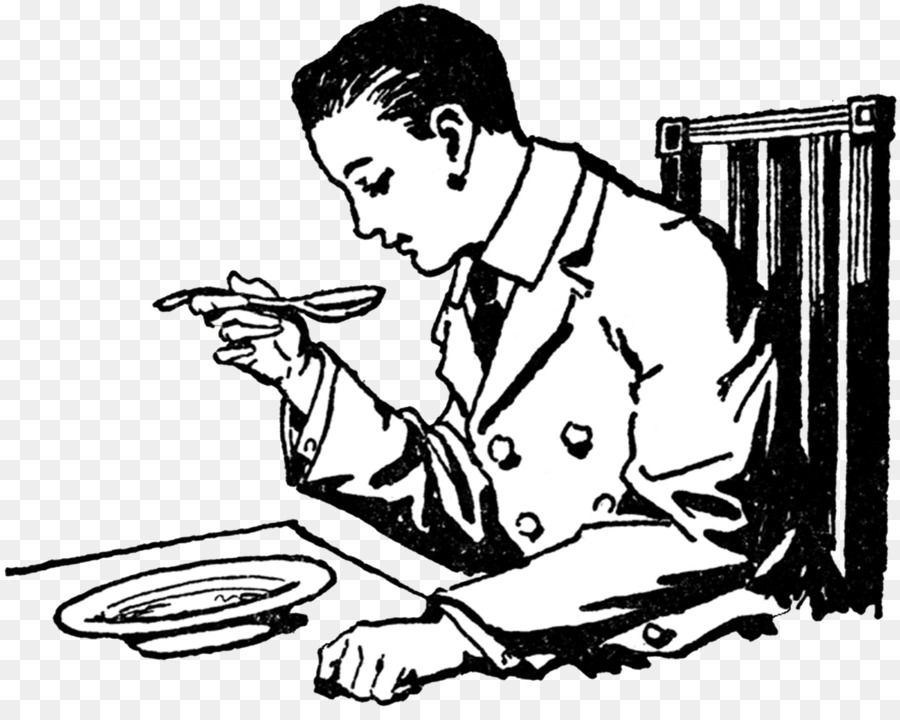 Eating Soup Lunch Clip Art