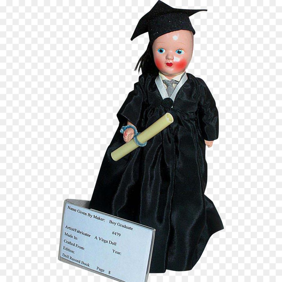 Doll Plastic Figurine Textile Graduation ceremony - graduation gown ...