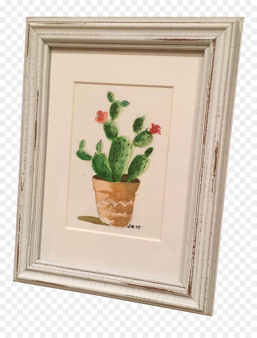 Flowerpot Vase Picture Frames Plant - succulent watercolor png ...