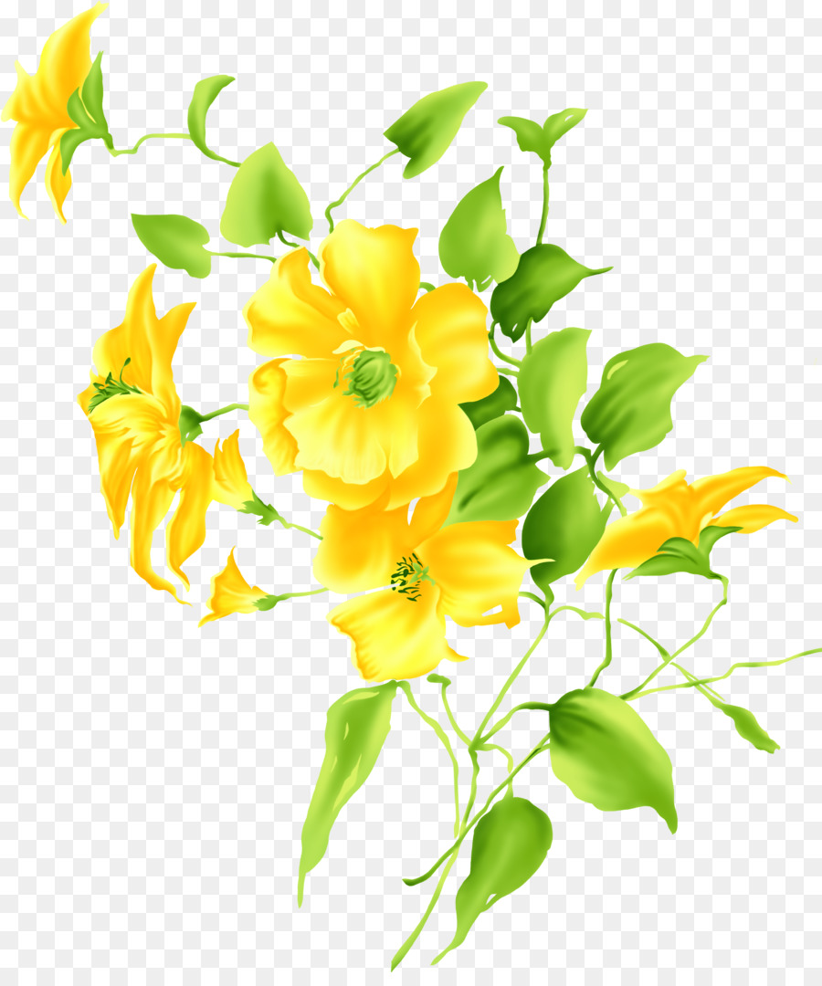Yellow Flower Drawing Clip Art Lily Png Download 25353000