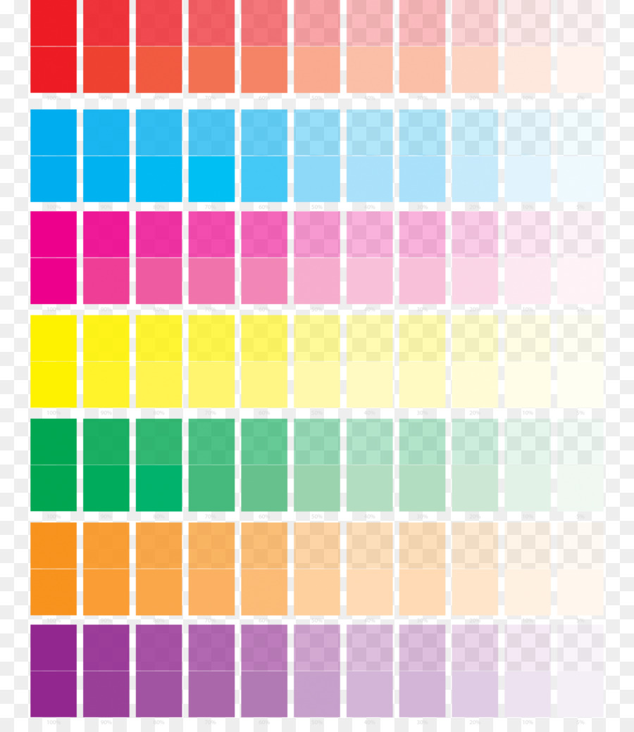Color Chart Rgb Color Model Printing Yellow Pastel Png Download