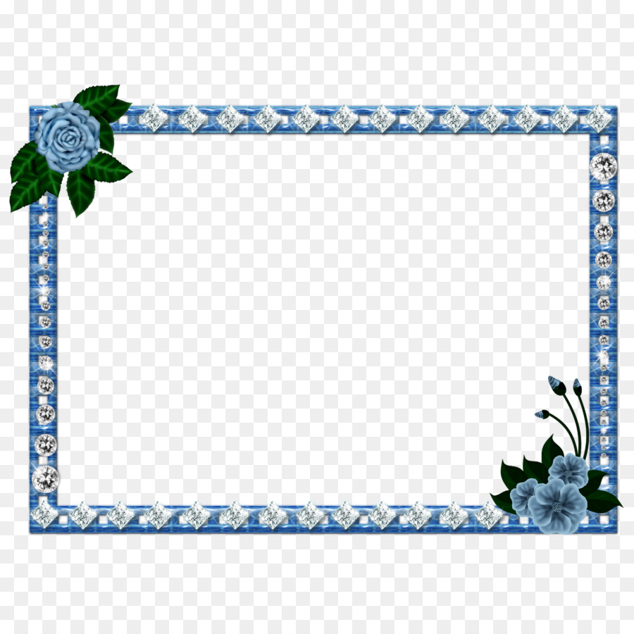 Picture Frames Blue Png Download 1600 1600 Free