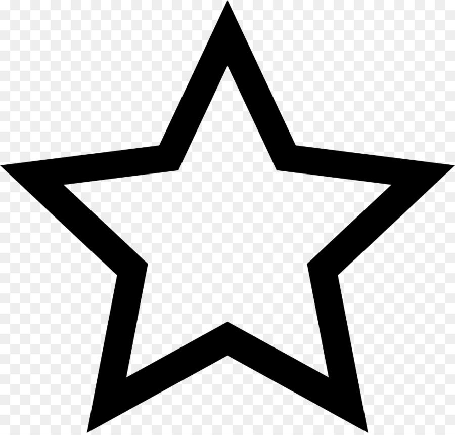 Five Pointed Star Symbol Outline Clip Art Red Star Png Download