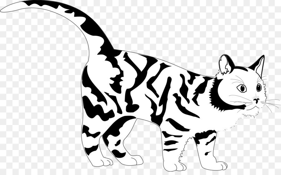 Gato tigre, libro para Colorear, imágenes prediseñadas - gato negro ...
