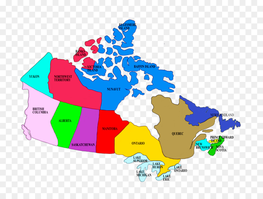 Provinces and territories of Canada Map Geography Cartography ...